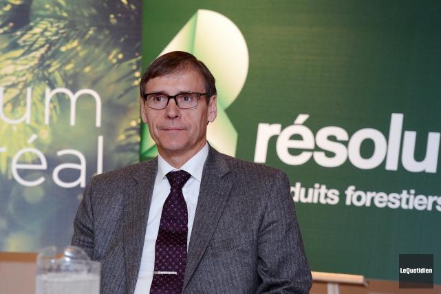 Le président de Produits forestiers Résolu, Richard Garneau... (Archives Le Quotidien, Jeannot Lévesque)