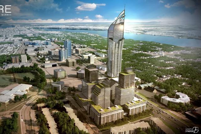 La construction du Phare devrait s'échelonner sur une... (Fournie par le Groupe Dallaire)