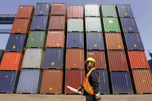 Les exportations de la Chine ont reculé de... (Photo Jason Lee, Archives Reuters)