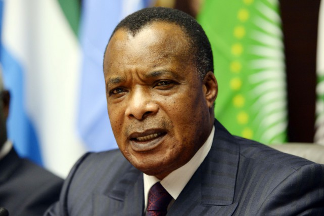 Le président congolais Denis Sassou Nguesso.... (PHOTO THIERRY CHARLIER, ARCHIVES AFP)