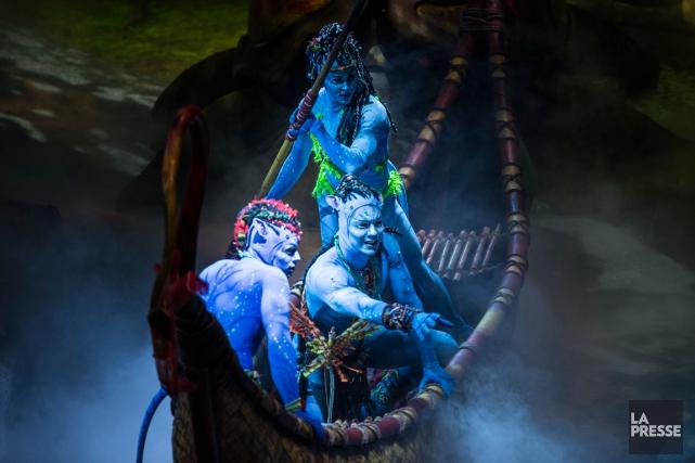 Les Na'vis, créatures bleues qui peuplent l'univers d'Avatar... (Photo Olivier PontBriand, La Presse)