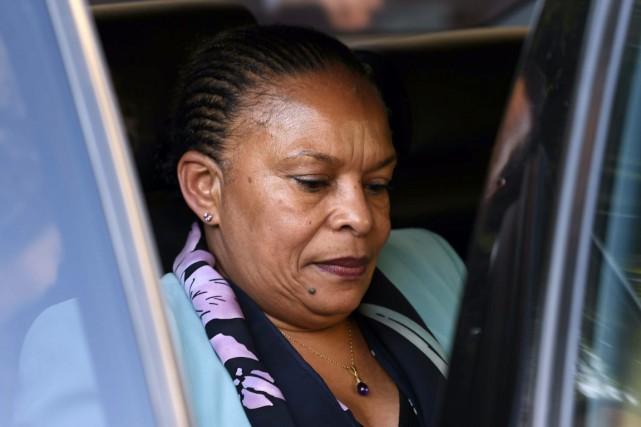 La ministre française de la Justice, Christiane Taubira.... (PHOTO FAROUK BATICHE, ARCHIVES AFP)