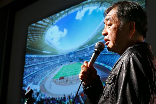 L'architecte japonais Kengo Kuma a présenté les plans... (Photo Shizuo Kambayashi, AP)