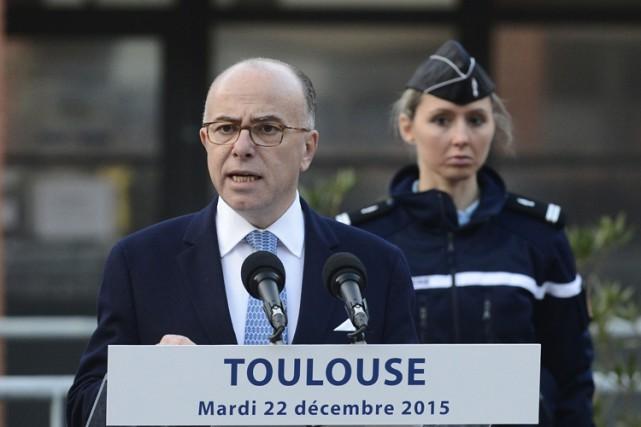 Le ministre français de l'Intérieur,BernardCazeneuve, a livré mardi... (PHOTO AFP)