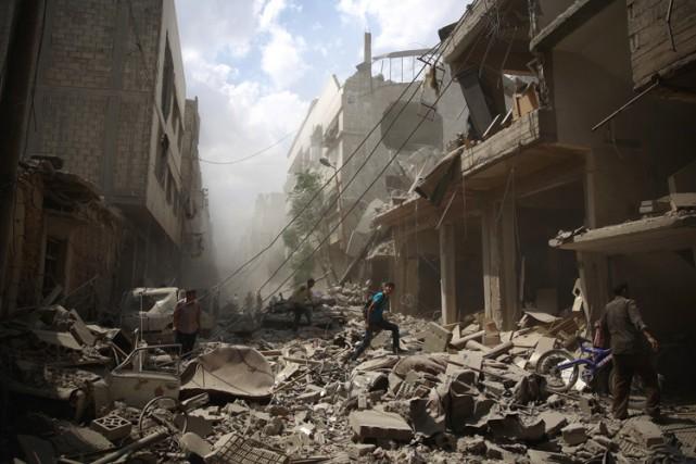 Le conflit en Syrie a fait plus de... (PHOTO AFP)