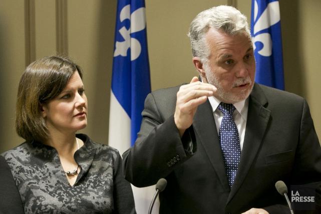 Au printemps 2014, Philippe Couillard, alors en campagne... (Archives, La Presse)