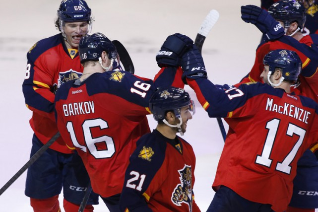 Aleksander Barkov a signé le but déterminant en fusillade et les Panthers de la... (PHOTO REUTERS)