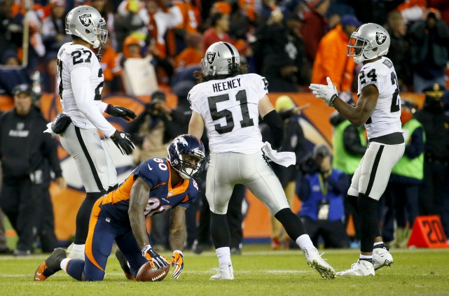 Lors de la défaite des Broncos contre les... (AP, Jack Dempsey)