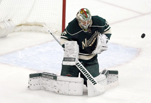 Le gardien de but du Wild, Darcy Kuemper,... (Associated Press)