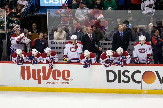La déroute du Canadien s'est poursuivie mardi soir... (Photo Brace Hemmelgarn, USA Today)