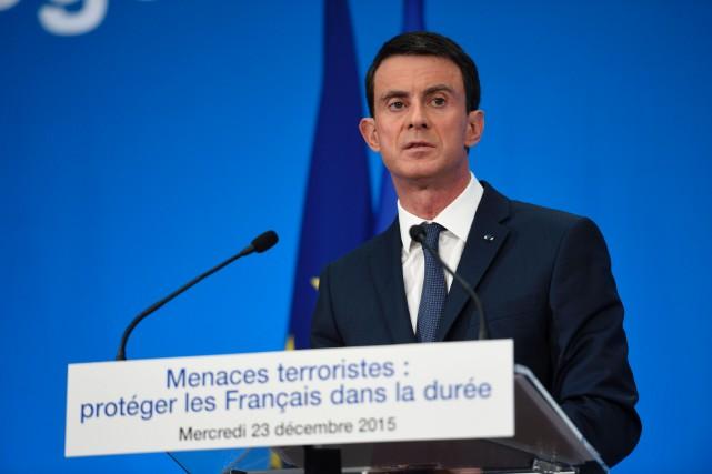 Le premier ministre français, Manuel Valls... (PHOTO Eric FEFERBERG, AFP)