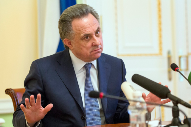 Le ministre des Sports de Russie, Vitaly Mutko.... (AP, Pavel Golovkin)