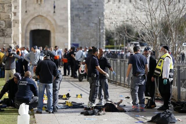 L'attaque de mercredi a eu lieu à l'extérieur... (PHOTO AHMAD GHARABLI, AFP)