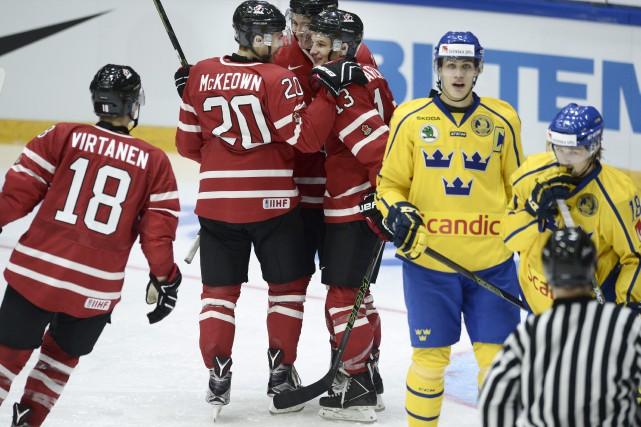 Le Canada a remporté ses trois matches préparatoires.... (Photo Heikki Saukkomaa, AP/Lehtikuva)