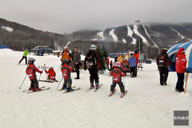 À la station de ski de Stoneham, cinq... (Le Soleil, Frédéric Matte)