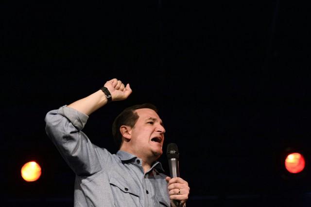Ted Cruz, en tête des sondages républicains dans... (Associated Press)