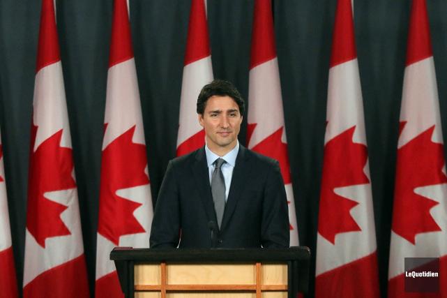 Le premier ministre du Canada, Justin Trudeau... (Archives Le Quotidien)