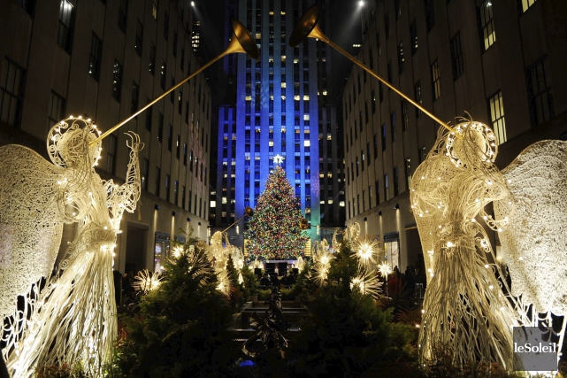 L'immense sapin de Noël auRockefeller Center, à New... (Photothèque Le Soleil)