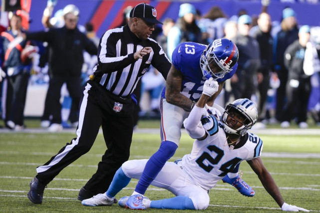 Le receveur de passe Odell Beckham fils et... (Associated Press)