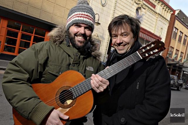 Dans leur spectacle en duo, Pépé et Mononc'... (Le Soleil, Patrice Laroche)