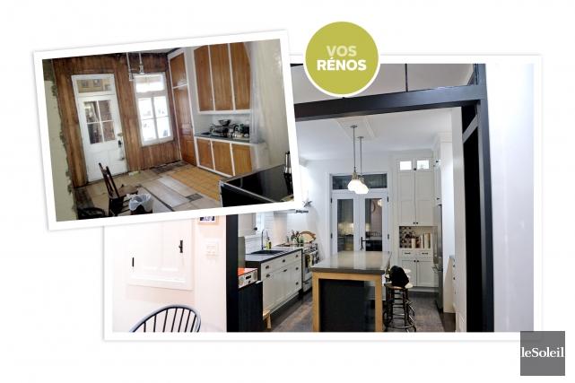 L'ancienne cuisine était dotée d'armoires en pin Douglas.... (Infographie Le Soleil)