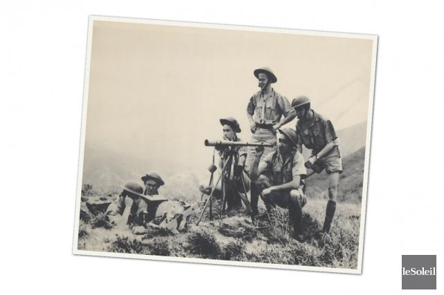 Des soldats canadiens dans un poste d'observation, le... (Infographie Le Soleil)