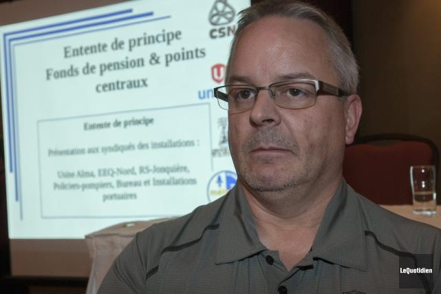 Le président du Syndicat des travailleurs d'énergie électrique... (Photo Le Quotidien, Michel Tremblay)