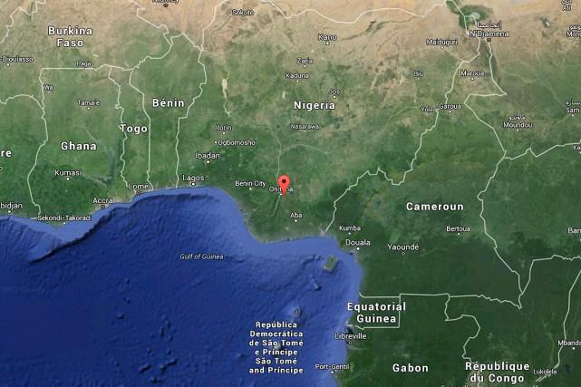 Le ville deNnewi, dans le sud-est du Nigeria.... (Image Google Maps)