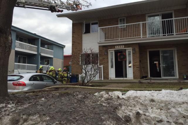 Trente-cinq pompiers ont été dépêchés au 4980, carré... (Fournie par le Service de protection contre l'incendie de la Ville de Québec)