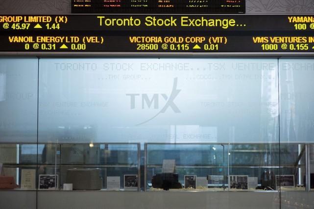 La bourse de Toronto affichait une hausse des... (Photo Aaron Vincent Elkaim, PC)