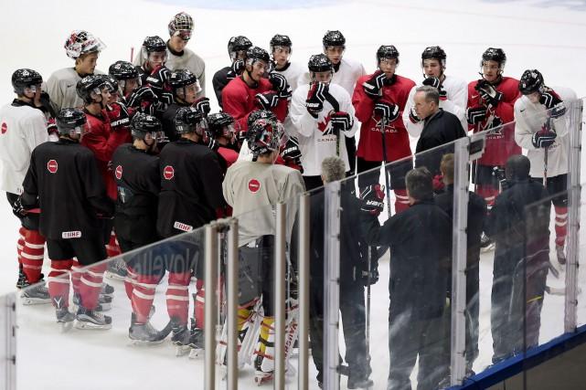 L'équipe canadienne était à l'entraînement vendredi, à la... (La Presse Canadienne, Sean Kilpatrick)