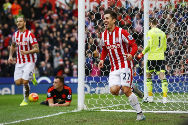 Bojan Krkic célèbre son but qui allait éventuellement... (PHOTO DARREN STAPLES, REUTERS)