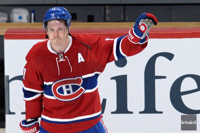 Brendan Gallagher était de retour à l'entraînement le... (Photo Archives Le Soleil)