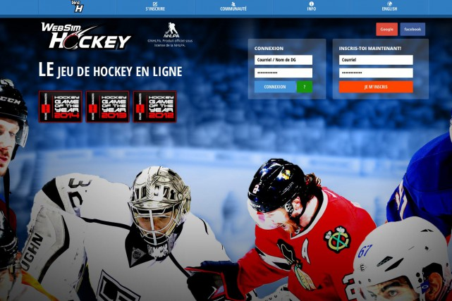 Le site internet Websim hockey, développé par quatre... (Photo tirée d'Internet)