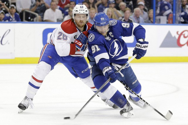Suivez en direct le match entre le Canadien et le Lightning de Tampa Bay. (Photo Chris O'Meara, archives AP)