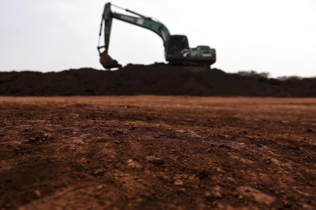 Une mine de bauxite en Malaisie.... (Agence France-Presse)