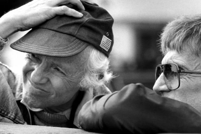 Haskell Wexler en 1983 avec le réalisateur Blake... (Associated Press)
