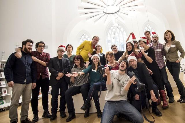 L'équipe des Matins créatifs de Québec lors de... (Marie-Josée Marcotte, fournie par Matins Créatifs Québec)