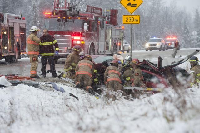 La collision entre les deux véhicules a entraîné... (Spectre Média, Julien Chamberland)