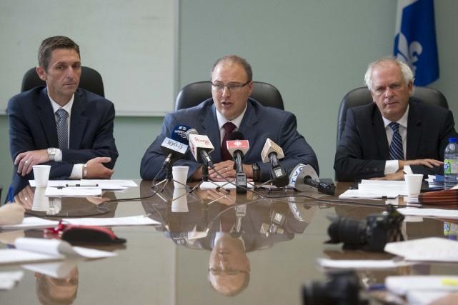 Le président-directeur général du CIUSSS, Martin Beaumont (au... (Andréanne Lemire)