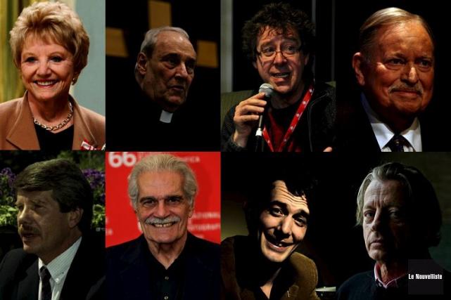 Suzanne Lapointe, Jean-Claude Turcotte, Joël Champetier, Jacques Parizeau,... (Montage Le Nouvelliste)