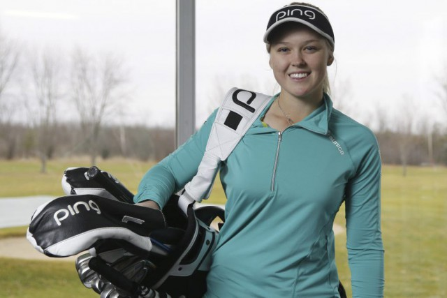 Brooke Henderson est devenue la première Canadienne à remporter... (Photo Patrick Doyle, Archives La Presse Canadienne)