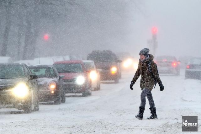 À Montréal, cette première tempête hivernale de l'année... (PHOTO ROBERT SKINNER, ARCHIVES LA PRESSE)