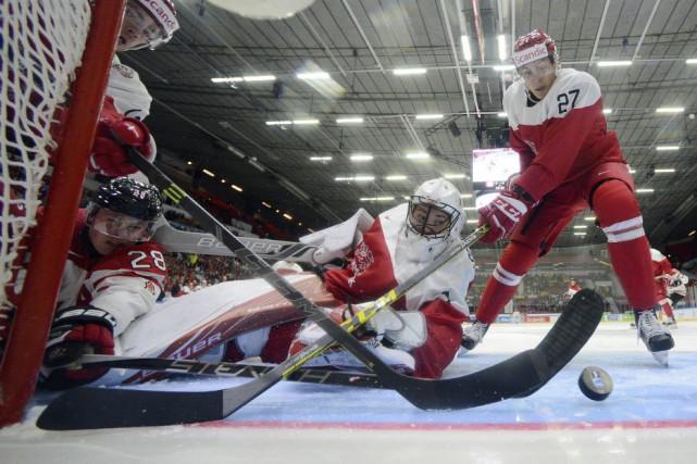 Les Canadiens ontdécoché 58 tirs en direction du... (Photo Sean Kilpatrick, PC)