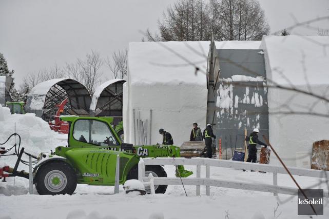 L'an dernier, l'Hôtel de glace a accueilli quelque... (Photo Pascal Ratthe, Le Soleil)