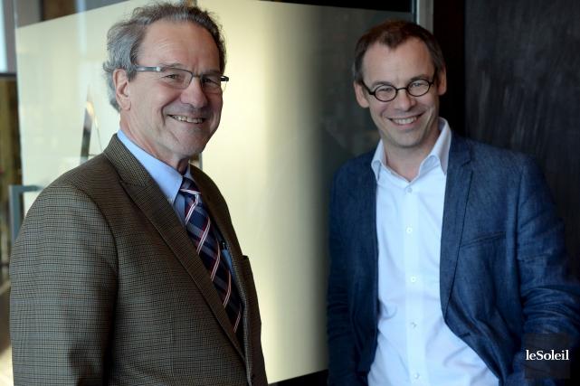 L'associé-fondateur du Groupe Dancause, Réjean Dancause, et son... (Photothèque Le Soleil, Erick Labbé)