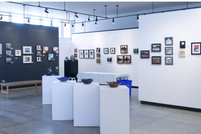 Un aperçu de l'exposition qui prend fin mercredi.... (fournie par Arts Sutton)