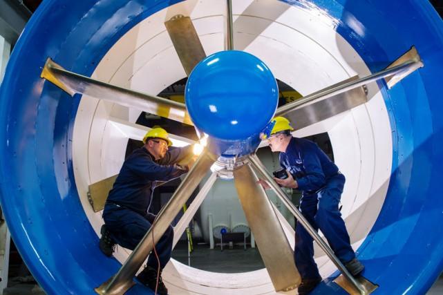 Le projet d'usine d'hydroliennes à Bécancour avait été... (Boeing)