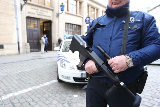 Les menaces d'attentats viseraient plusieurs lieux emblématiques de... (PHOTO NICOLAS MAETERLINCK, BELGA)