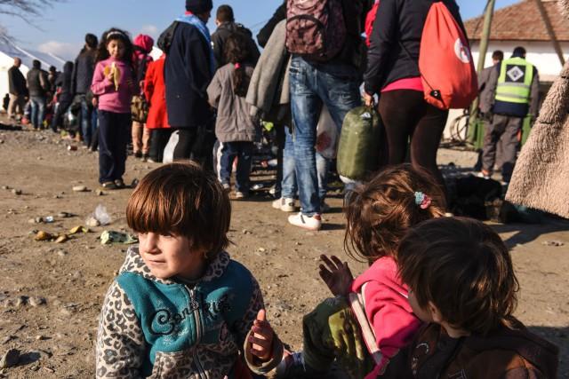 «Les réfugiés de la guerre civile syrienne qui... (PhotoARMEND NIMANI, Agence France-Presse)